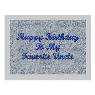 Feliz cumpleaños a mi tío preferido tarjeta postal