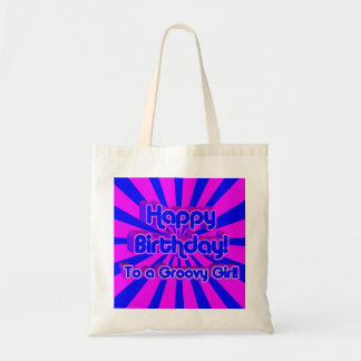 ¡Feliz cumpleaños a un chica maravilloso! Bolsa Tela Barata