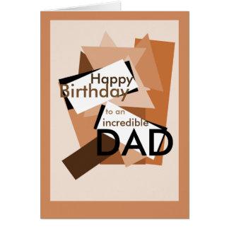 Feliz cumpleaños a un color increíble del bloque tarjeta de felicitación