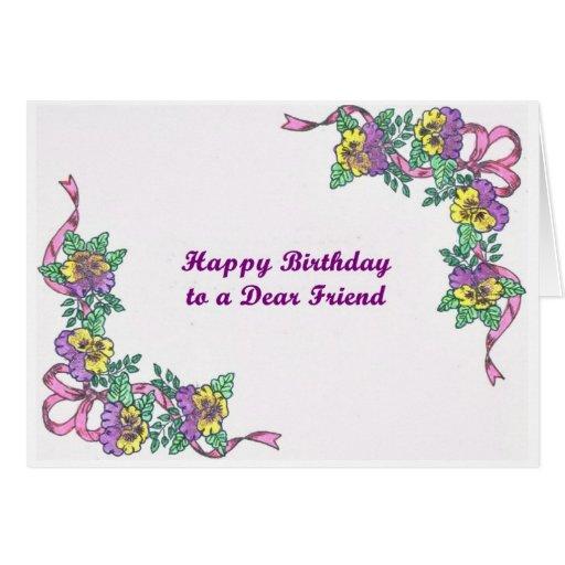 Feliz cumpleaños a una estimada tarjeta del amigo