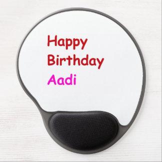 Feliz cumpleaños Aadi Alfombrilla De Ratón Con Gel