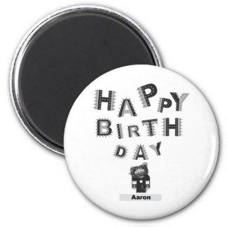 feliz cumpleaños Aaron Imán Redondo 5 Cm