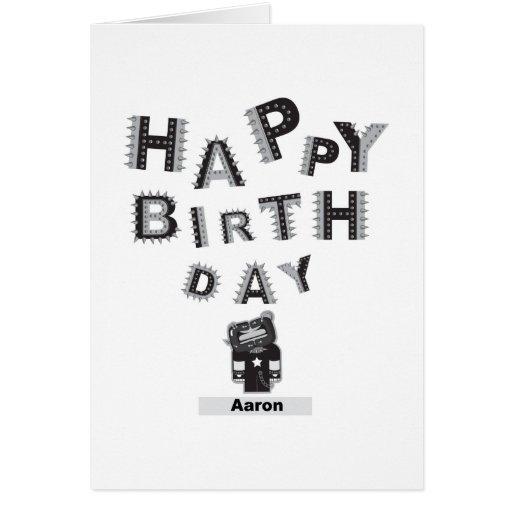 feliz cumpleaños Aaron Tarjeta De Felicitación