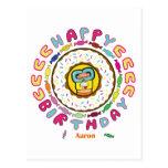 feliz cumpleaños Aaron Tarjeta Postal