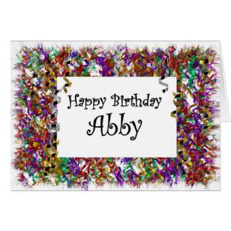 Feliz cumpleaños Abby Tarjeta De Felicitación