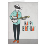 Feliz cumpleaños - acose jugar el coche del saludo tarjeta de felicitación