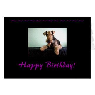 Feliz cumpleaños Airedale Terrier Felicitaciones
