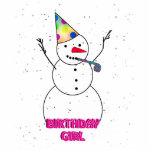 ¡Feliz cumpleaños al chica del cumpleaños! Escultura Fotográfica