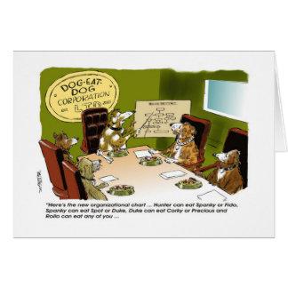 Feliz cumpleaños al dibujo animado del perro tarjeta de felicitación