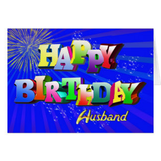 Feliz cumpleaños al marido tarjeta de felicitación