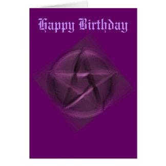 Feliz cumpleaños al Wiccan ocultado Tarjeta De Felicitación