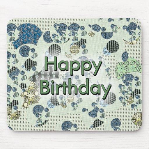 Feliz cumpleaños alfombrilla de ratón