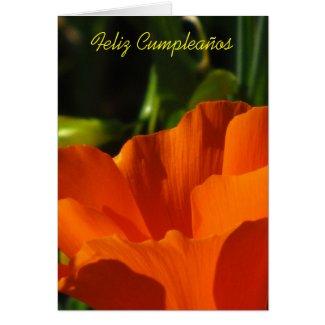 Feliz Cumpleaños - Amapola de California Greeting Card