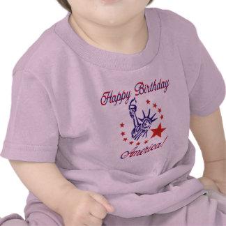 Feliz cumpleaños América Camisetas