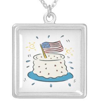 Feliz cumpleaños América Colgante Cuadrado