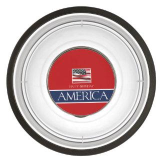 ¡Feliz cumpleaños América! Cuenco Acrílico