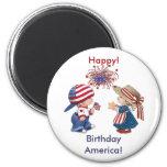 Feliz cumpleaños América del vintage Imán Para Frigorífico