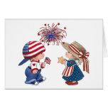 Feliz cumpleaños América del vintage Tarjeta De Felicitación