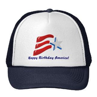 ¡Feliz cumpleaños América! Gorro De Camionero