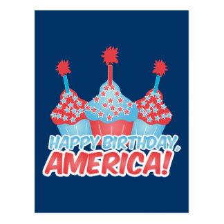 Feliz cumpleaños América Postal