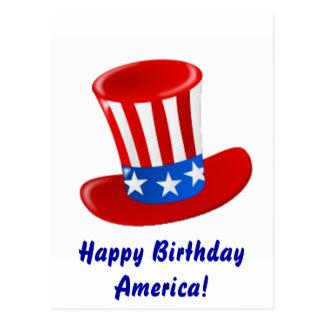 ¡Feliz cumpleaños América! Postal