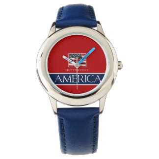 ¡Feliz cumpleaños América! Relojes De Pulsera