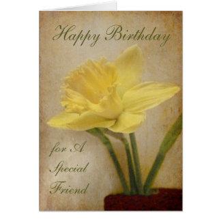 Feliz cumpleaños, amigo especial felicitacion