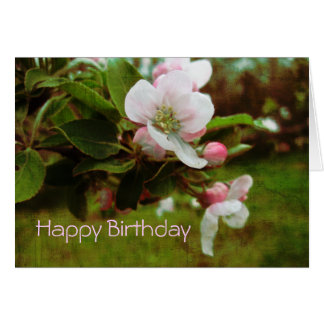 Feliz cumpleaños - Apple Blossums Tarjetón
