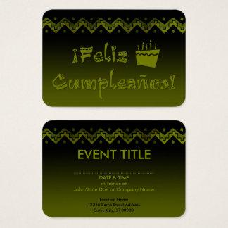 feliz cumpleanos arriba cake business card