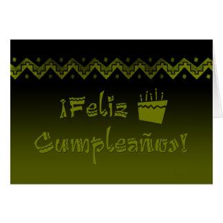 feliz cumpleanos arriba cake card