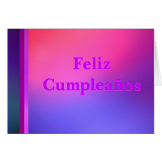 Feliz Cumpleaños - Azul, Púrpura y Rosa Card