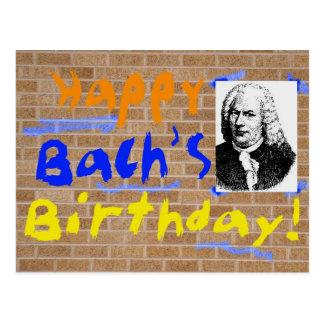 Feliz cumpleaños Bach Tarjeta Postal