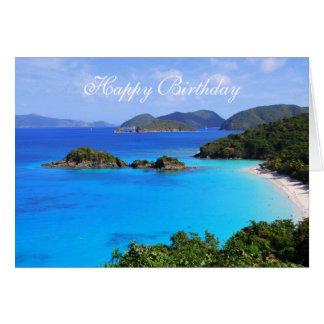Feliz cumpleaños, bahía del canela, St. John, U.S. Felicitaciones