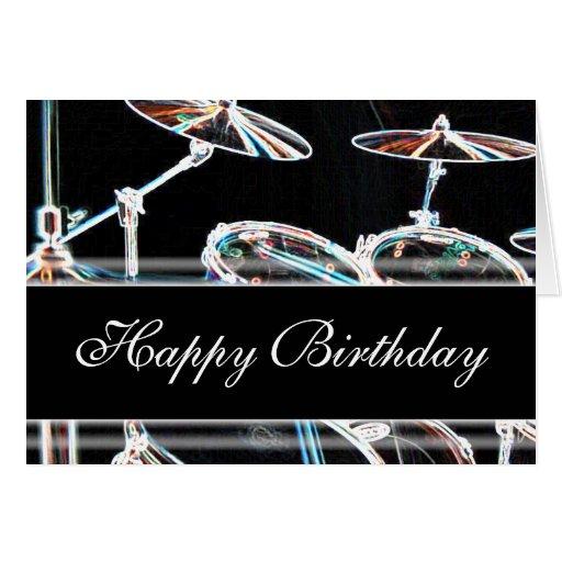 Feliz cumpleaños - batería felicitación