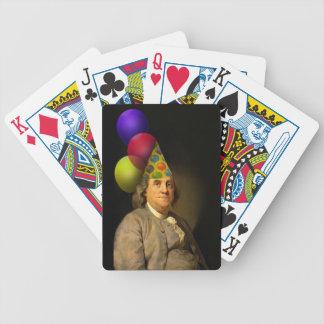 Feliz cumpleaños Ben Franklin - muchacho del fiest Barajas De Cartas
