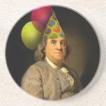 Feliz cumpleaños Ben Franklin Posavasos Diseño