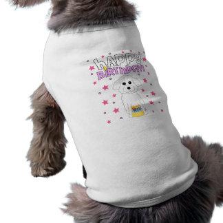 Feliz cumpleaños Bichon Frise Camisas De Mascota