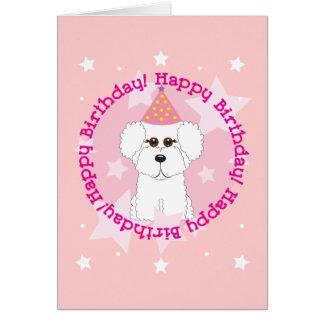 Feliz cumpleaños Bichon Tarjeta De Felicitación