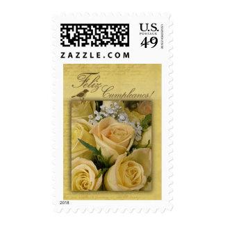 Feliz Cumpleanos Birthday Postage Stamp