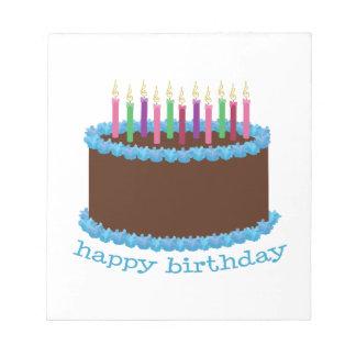 Feliz cumpleaños bloc de notas