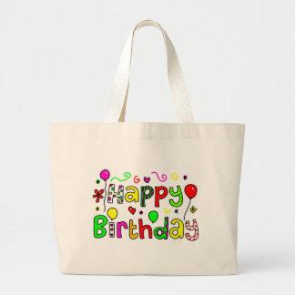 Feliz cumpleaños bolsa tela grande