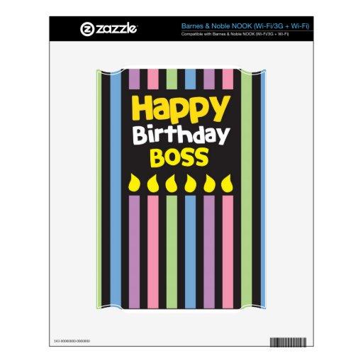 ¡Feliz cumpleaños BOSS! Calcomanía Para El NOOK