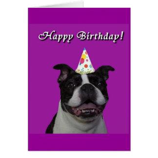 Feliz cumpleaños Boston Tarjeta De Felicitación