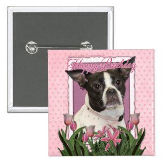 Feliz cumpleaños - Boston y rata Terrier - Jazy Pins