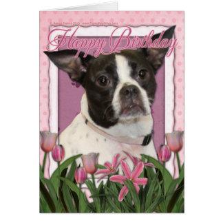 Feliz cumpleaños - Boston y rata Terrier - Jazy Felicitacion
