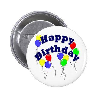 Feliz cumpleaños - botón D2 Pin Redondo De 2 Pulgadas