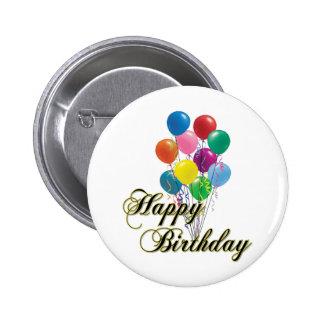 Feliz cumpleaños - botón D4 Pin Redondo De 2 Pulgadas
