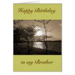 Feliz cumpleaños Brother de Brother/hermana Tarjeta De Felicitación