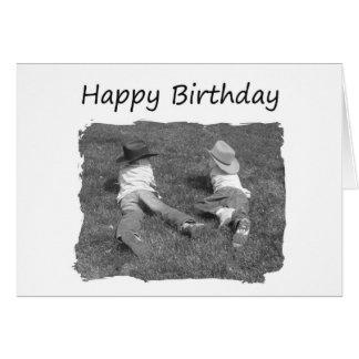 Feliz cumpleaños Brother - vaqueros Tarjeta