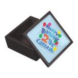 Feliz cumpleaños caja de recuerdo de calidad